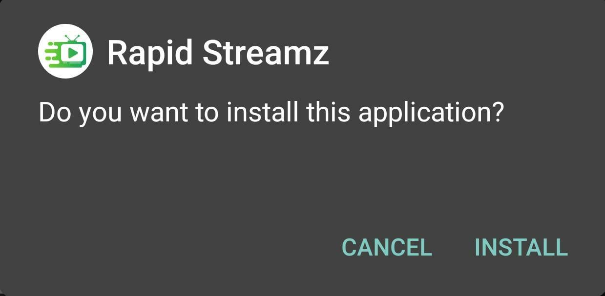 Install Rapid Streamz APK